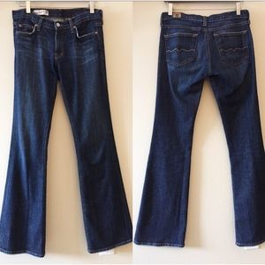 Red Engine Flare Jeans